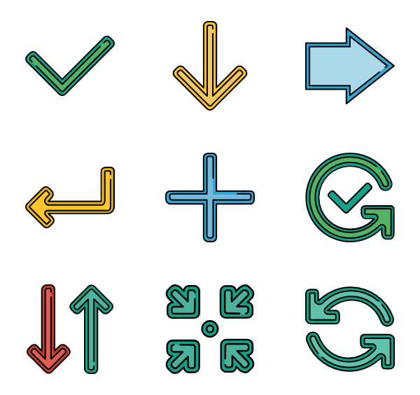 Vector pointers psd. Pointer icon packs