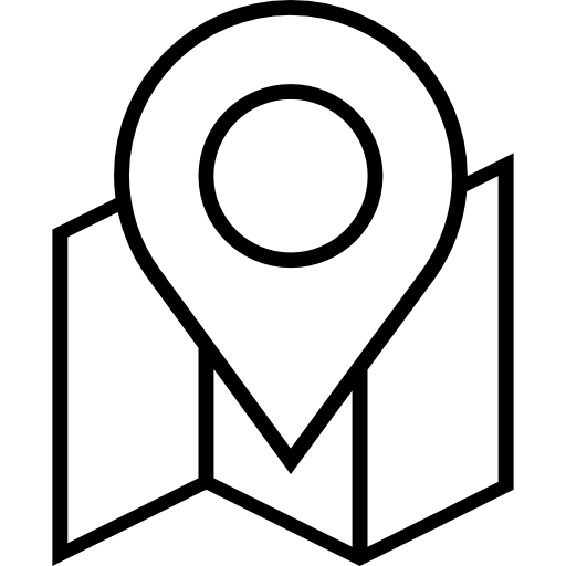 Vector pointers venue. Direction pin and map
