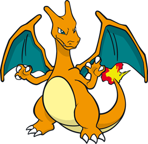 charizard vector scared