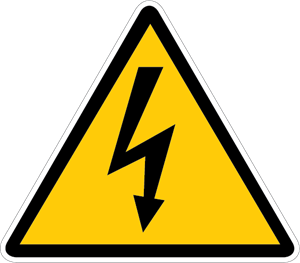 Vector power electrical. Electric shock sign logo