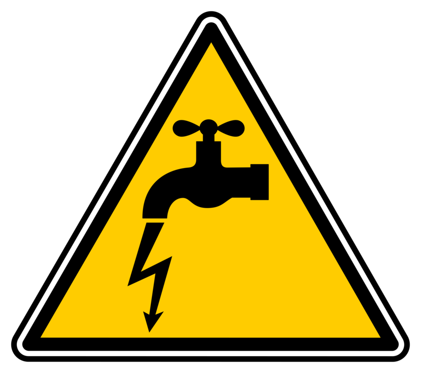 Vector power electrical hazard symbol. Electricity injury energy safety