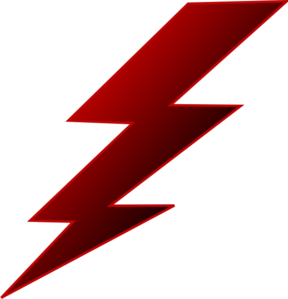 Vector power lightning. Electric clip art at