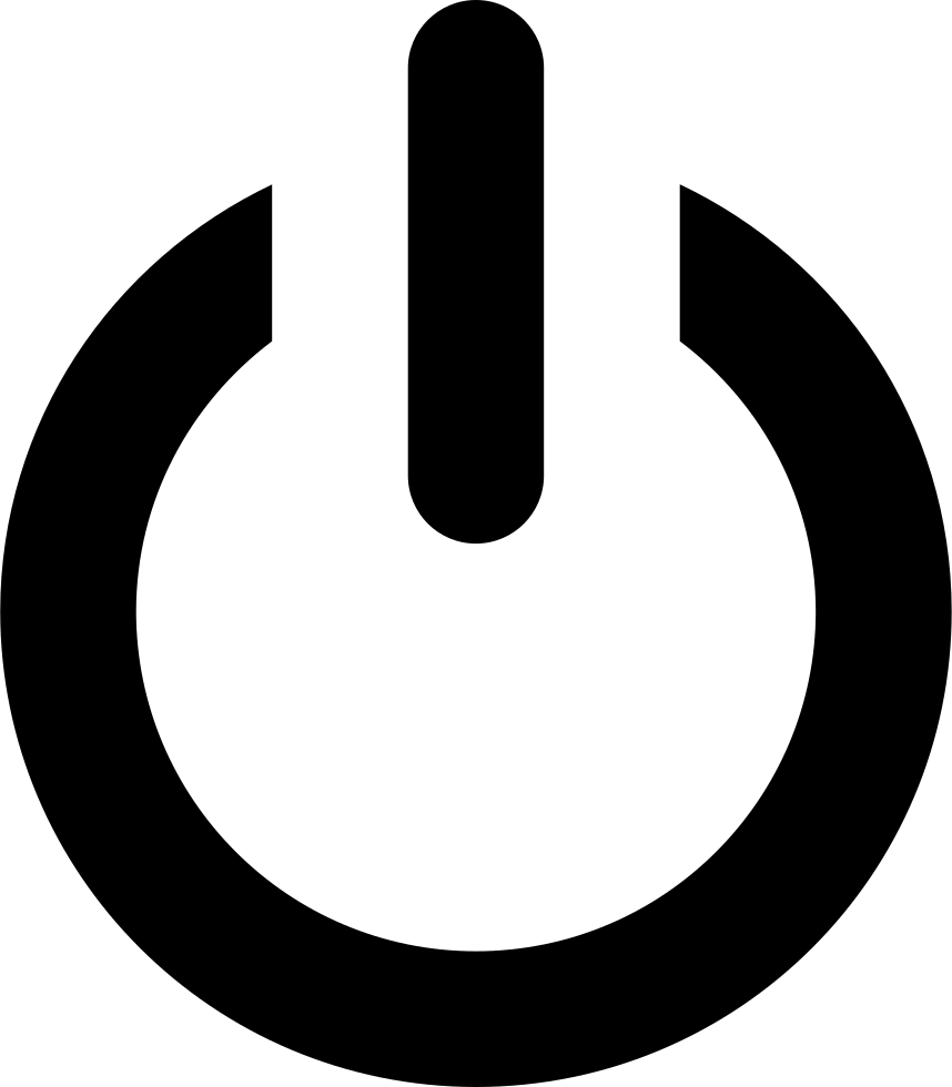 Vector power sign. Computer icons portable network