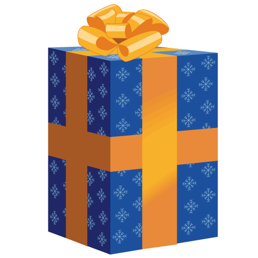 Vector presents blue. Tall christmas gift icon