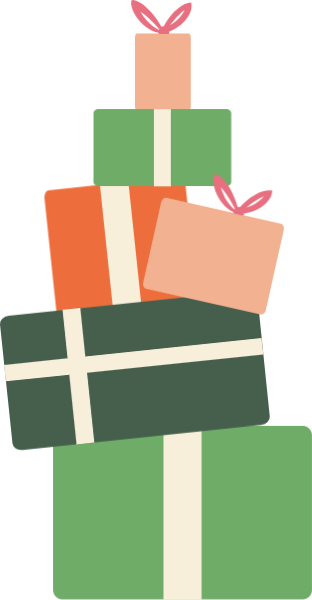 Vector present gift packaging. Free online boxes gifts