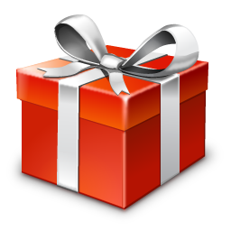 Vector present gift packaging. Standard new year icons