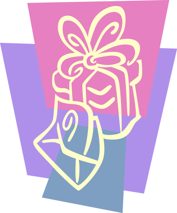 Vector presents gift voucher. Christmas with card image