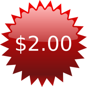Vector pricing price tag. Red star clip
