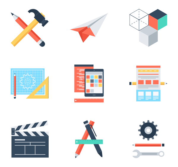 Vector process. Creative icons free