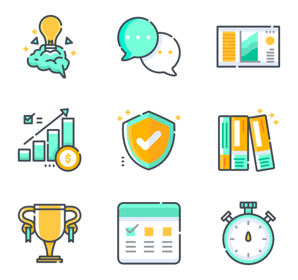 Vector project self management. Task icons free proyect