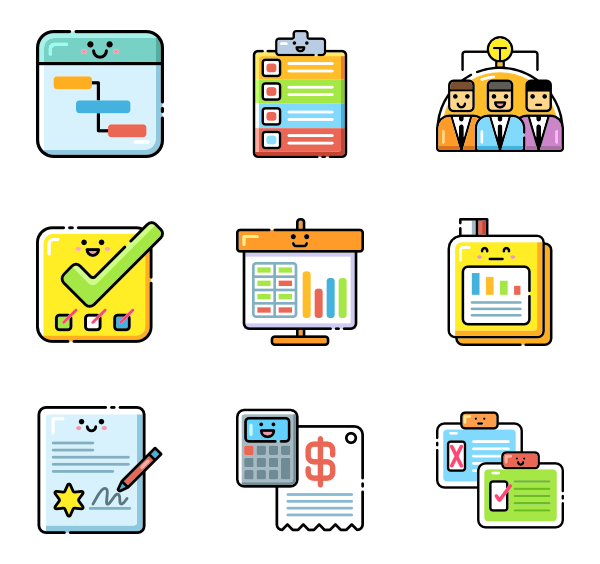 Vector project icon. Icons free management