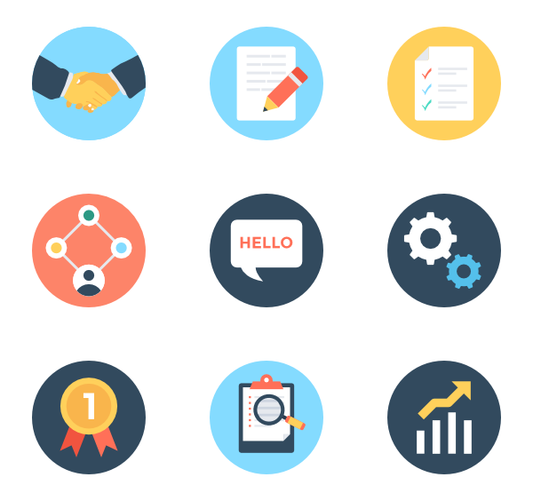 Vector project planning. Icon packs svg