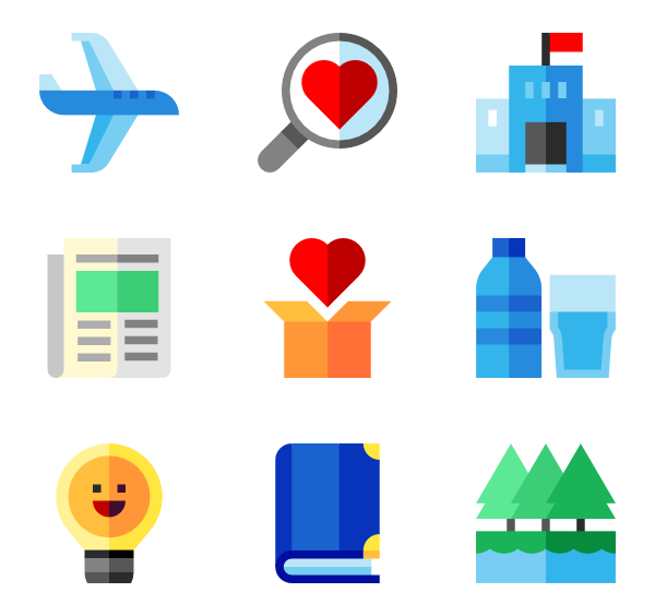 Vector project proposal. Icon packs svg