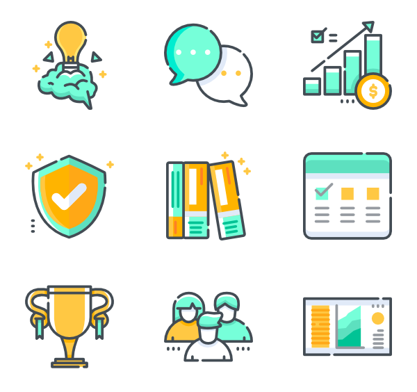 Vector project tasks. Task icons free proyect