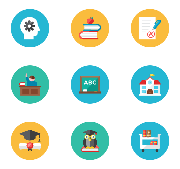 Vector psd circle. Essential icon family flat