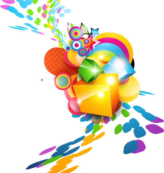 Colorful vector. Burst psd official psds