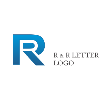 Vector psd hard work. R letter logo design