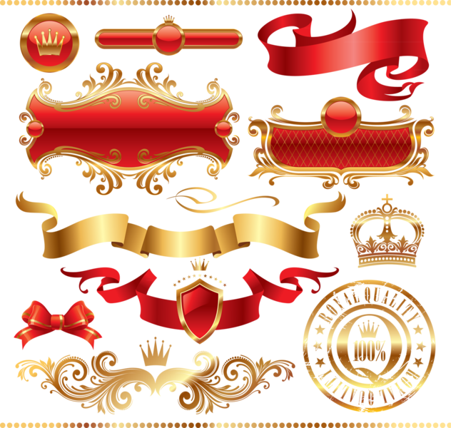 Ribbons scrolls conversions psd. Heraldry vector clipart royalty free library