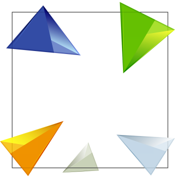 Vector triangles triangle background. D png vectors