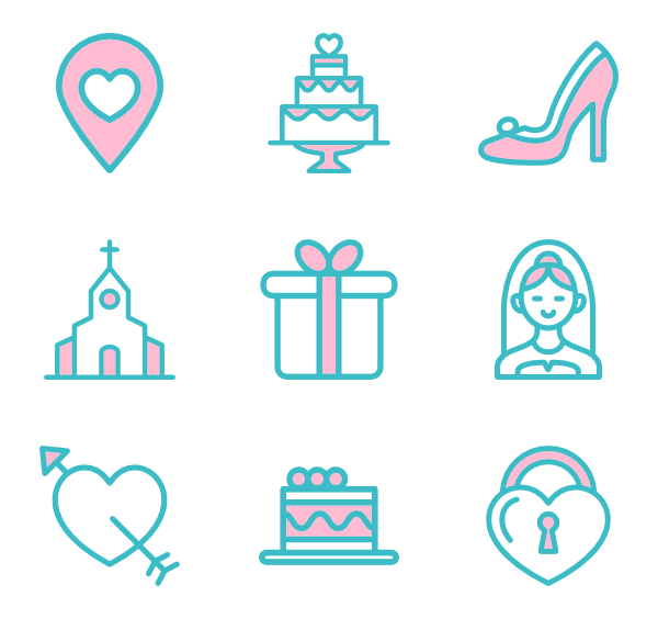 Vector psd wedding. Ring icon packs