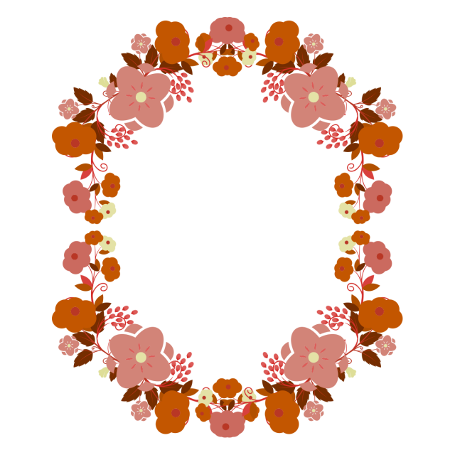 Floral frame with beautiful. Marcos vector picture free library