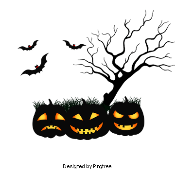 Pumpkins vector colored. Halloween png vectors psd