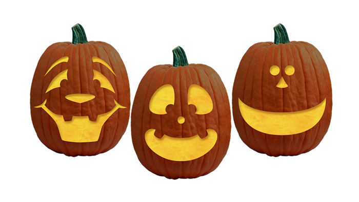 Transparent pumpkins carved. Halloween pumpkin faces search
