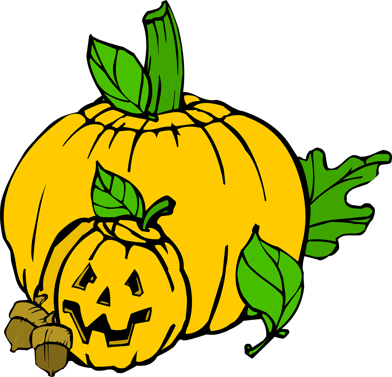Pumpkins vector pumkin. Halloween colour recreation holiday