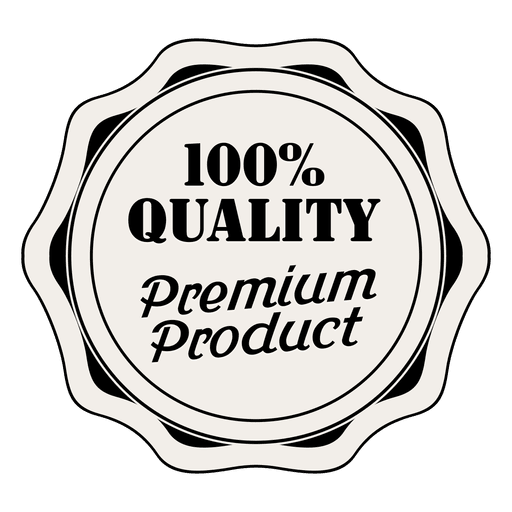 Vector quality labels. Percent premium label