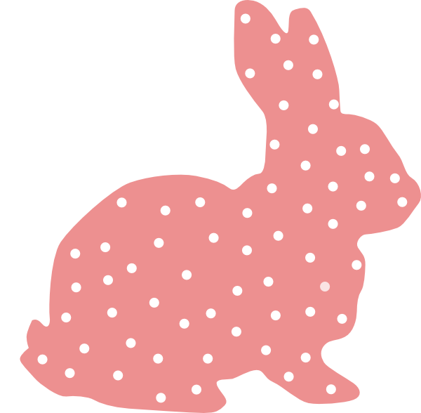 Vector rabbit. Polka dot bunny easter