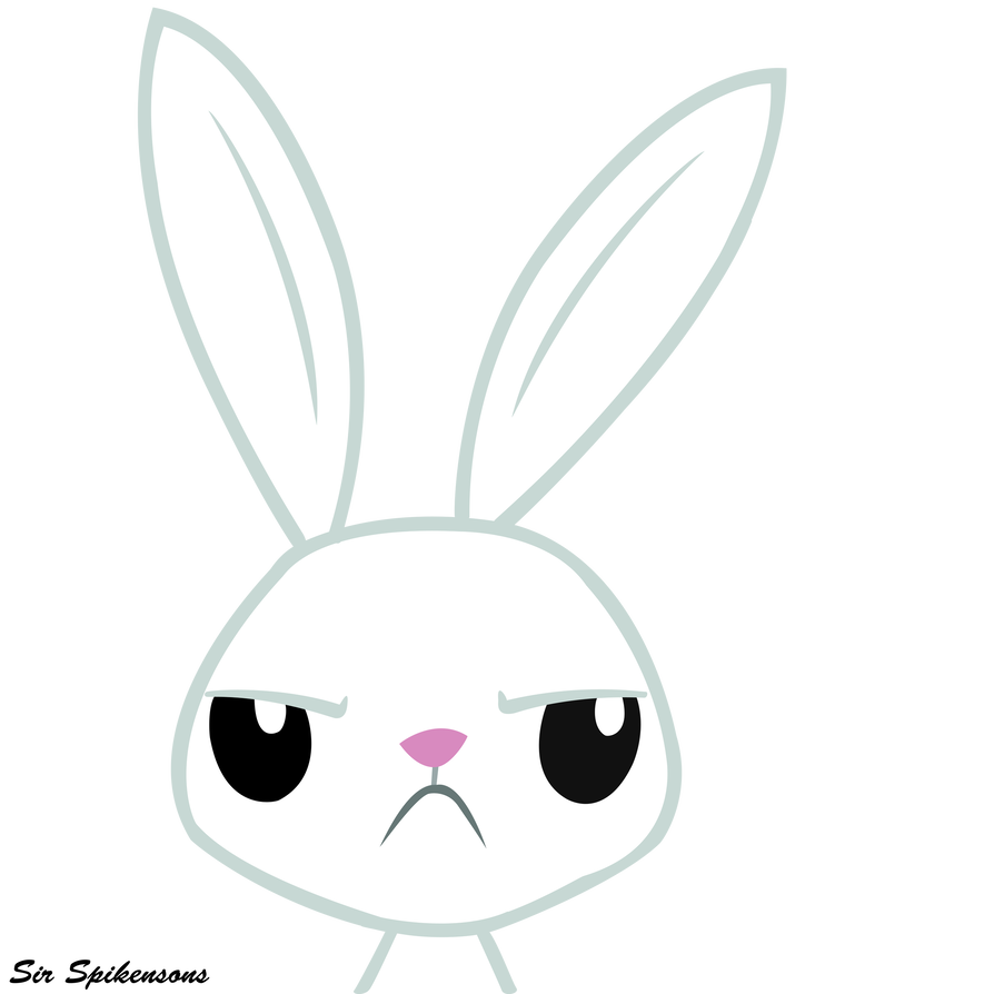 Vector rabbit angry. Angel by sirspikensons on