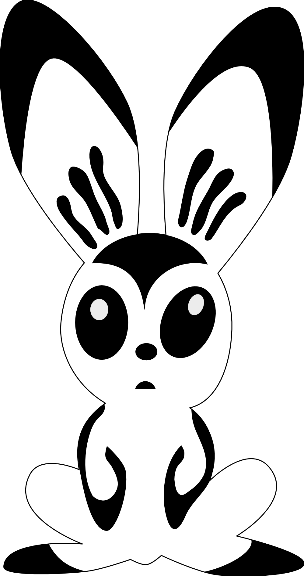 Vector rabbit outline. Free download clip art