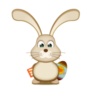 Vector rabbit realistic. Easter bunny rss egg