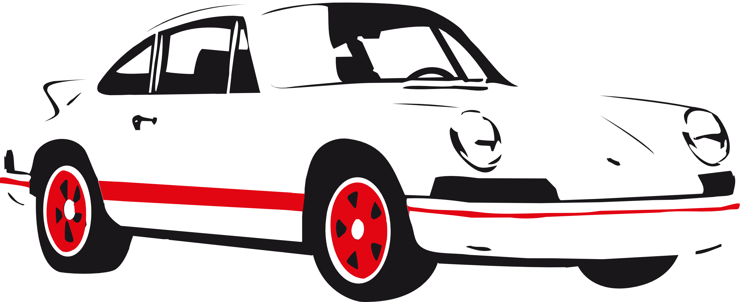 Vector race. Car silhouette clip art