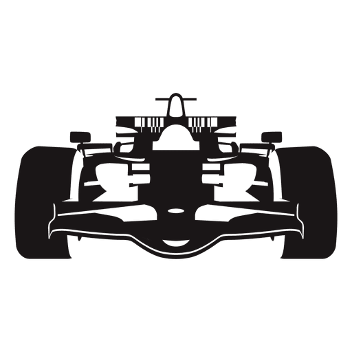 Formula one racing car. Vector race black and white stock