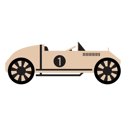 Vector race vintage. Old style car racing