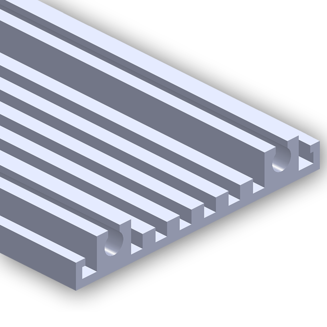 Vector rails. Frame loc extrusions electronics