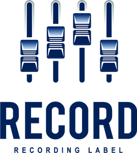 Vector record label. Logo eps free download
