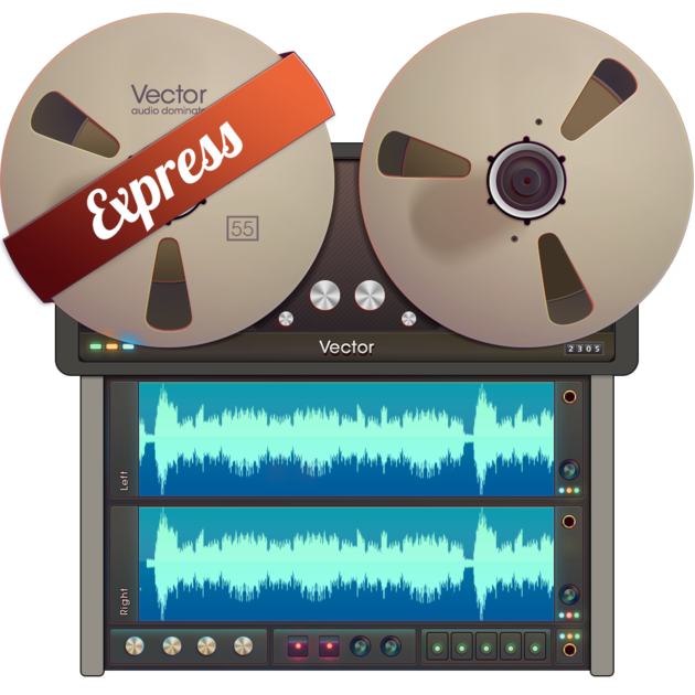 Vector record audio recording. Edit on the mac
