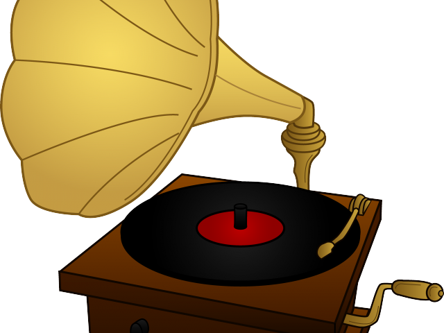 Vector record gramaphone. Player clipart svg free