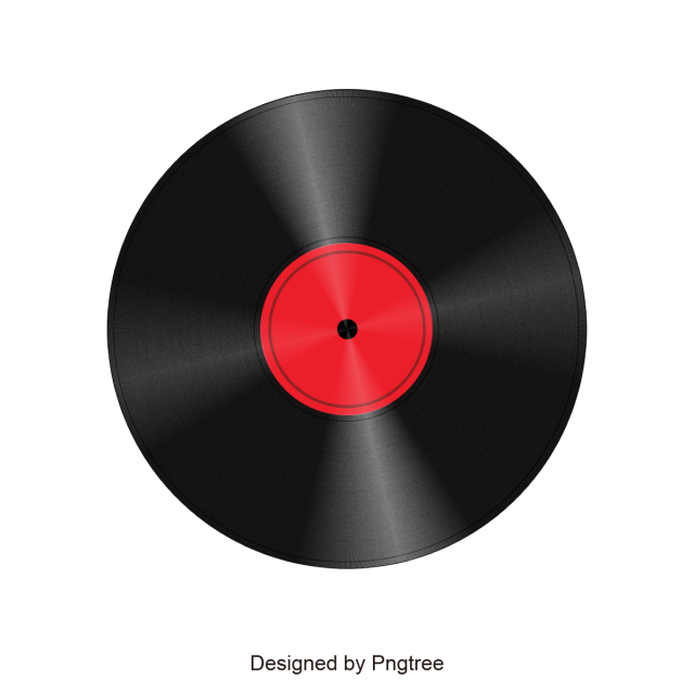 Vector record music poster design. Material vinyl records png