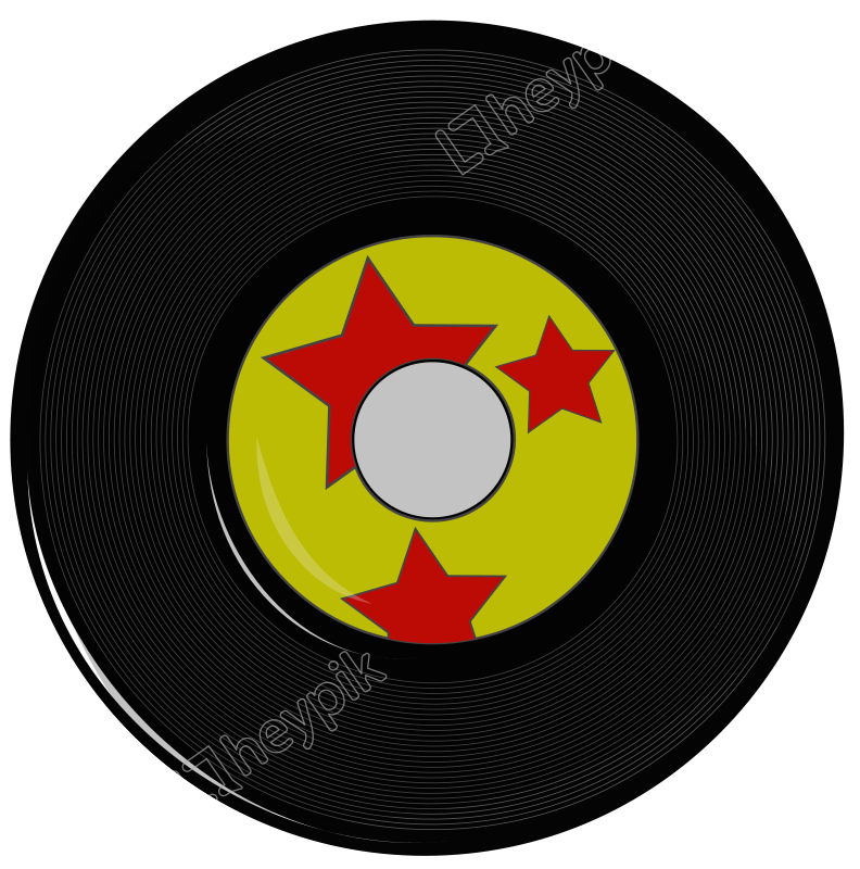 Vector record gramaphone. Old fashioned free download
