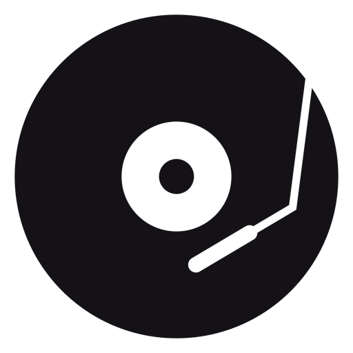 Vector record musical. Music silhouette transparent png