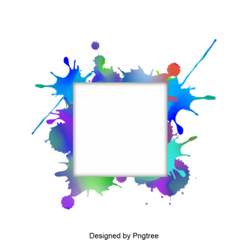 Vector splashes creative. Watercolor border album ink