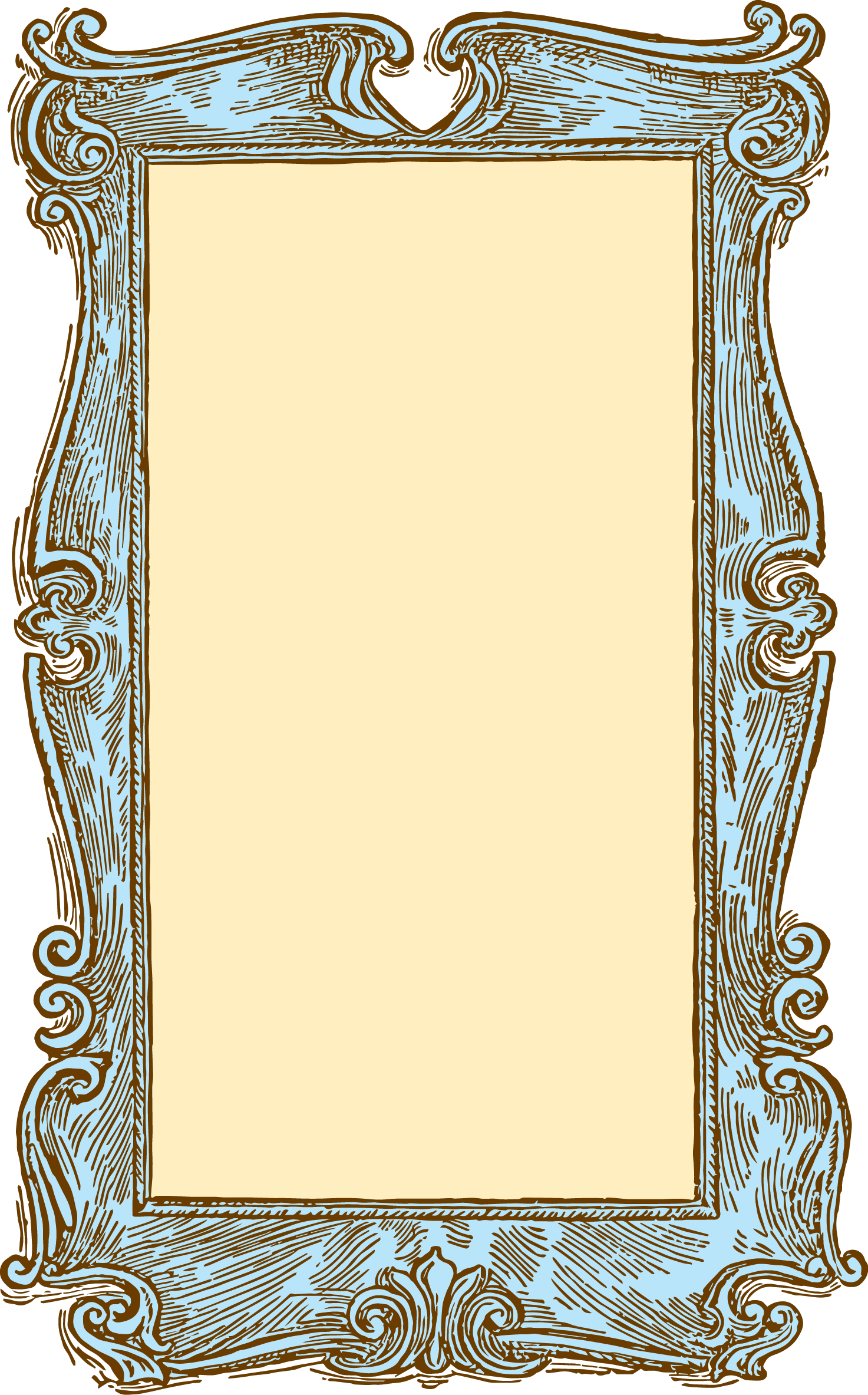 Vector rectangle vintage. Free frame comes in