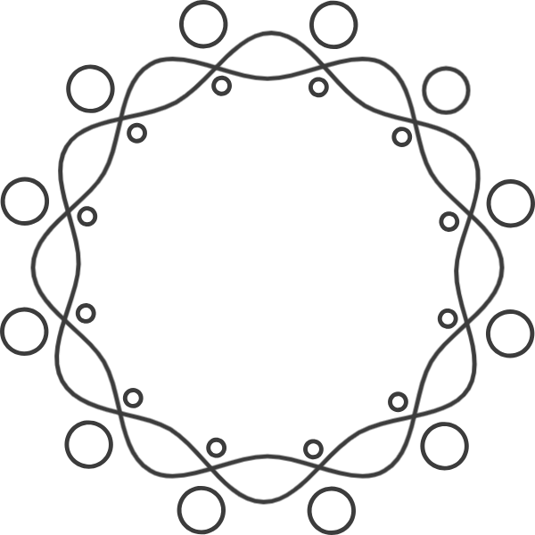 Drawing ovals wreath. Free online box borders