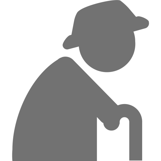 Vector rehabilitation elderly. Old age icon png