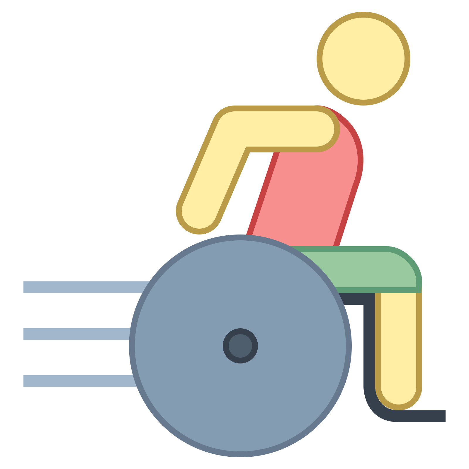 Vector rehabilitation icon. Handicapped free download png