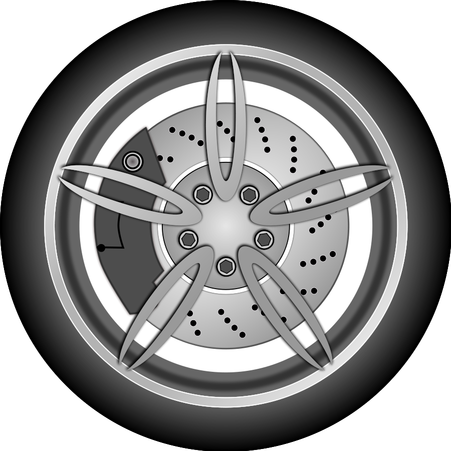 Vector rims weel. Wheels car clipart clipground