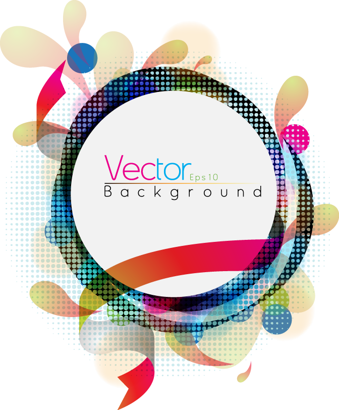 Vector rings abstract. Geometry colorful color ring